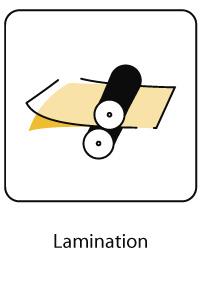 Lamination après impression